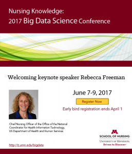 2017 Nursing Knowledge: Big Data Science Conference @ University of Minnesota in Minneapolis | Minneapolis | Minnesota | United States