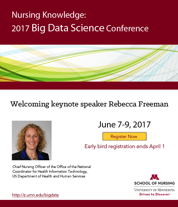2017 Nursing Knowledge: Big Data Science Conference Announces Keynotes